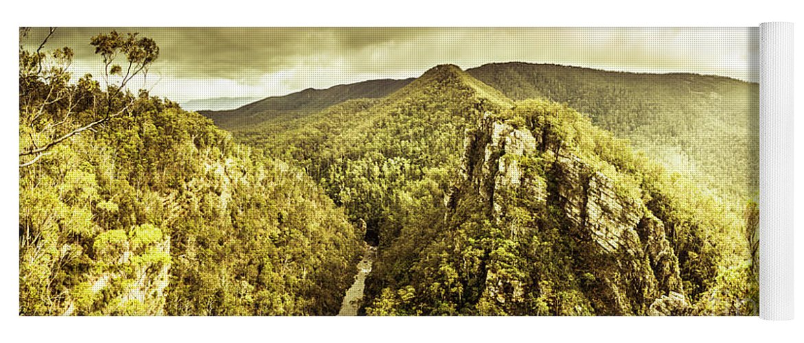 Landscape Yoga Mat featuring the photograph Cliffs, Steams And Valleys by Jorgo Photography - Wall Art Gallery