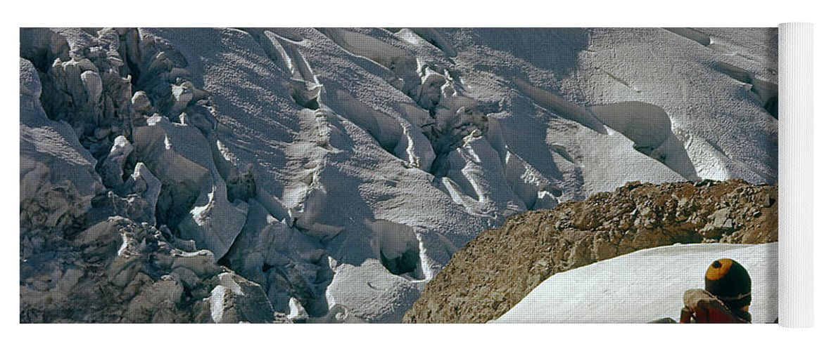 Climbing Party Yoga Mat featuring the photograph T-204805-climbing Party Mt. Rainier by Ed Cooper Photography
