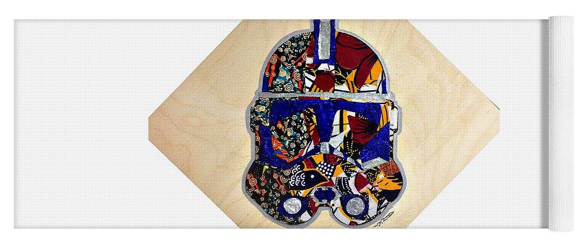 Clone Trooper Yoga Mat featuring the tapestry - textile Clone Trooper Star Wars Afrofuturist by Apanaki Temitayo M