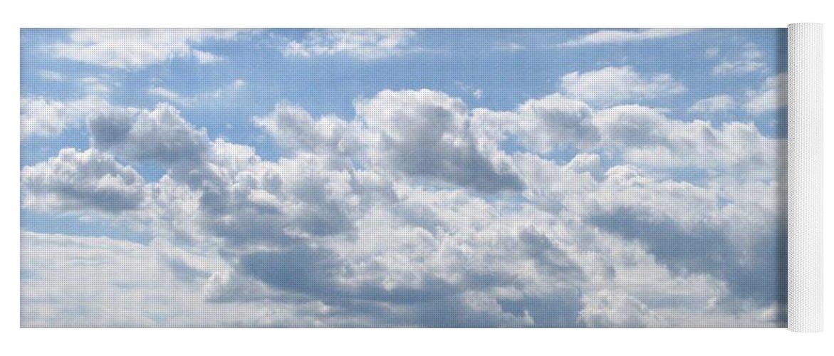 Clouds Yoga Mat featuring the photograph Cloudy by Rhonda Barrett