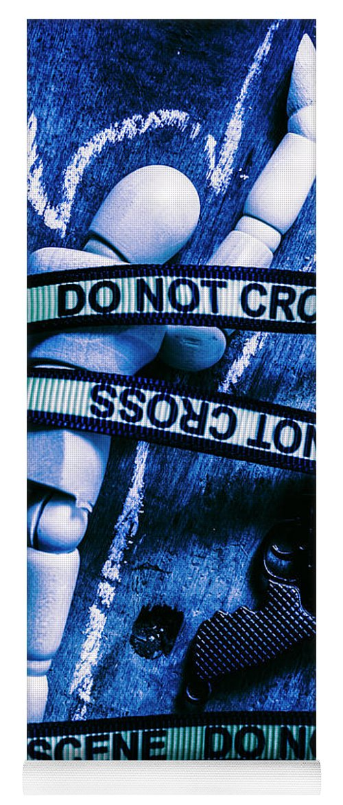 Gun Yoga Mat featuring the photograph Code Blue Csi by Jorgo Photography - Wall Art Gallery