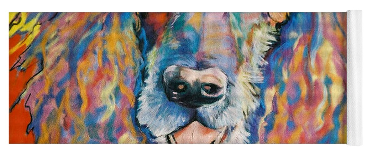 Standard Poodle Yoga Mat featuring the painting Cole by Pat Saunders-White