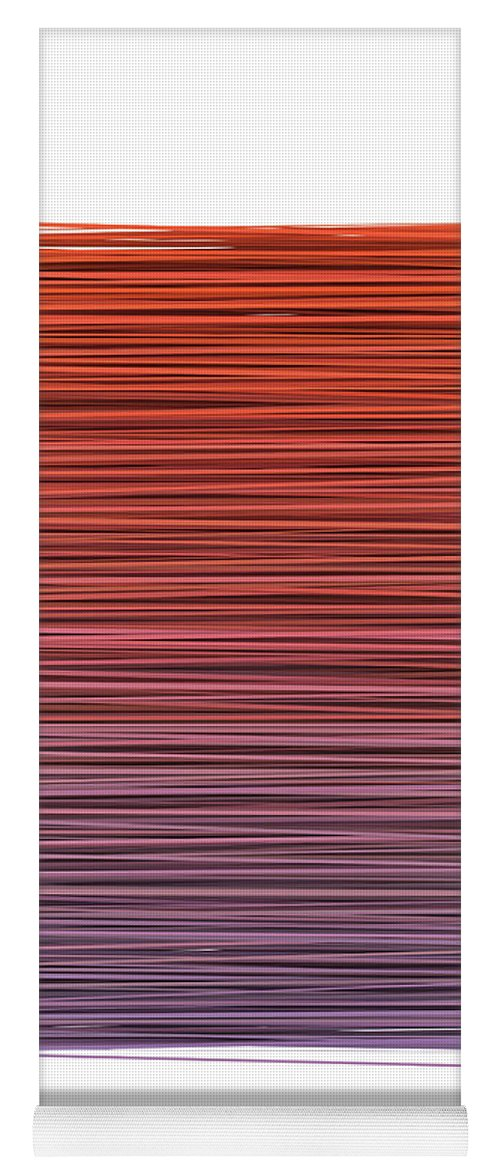 Abstract Yoga Mat featuring the digital art Color And Lines 3 by Scott Norris