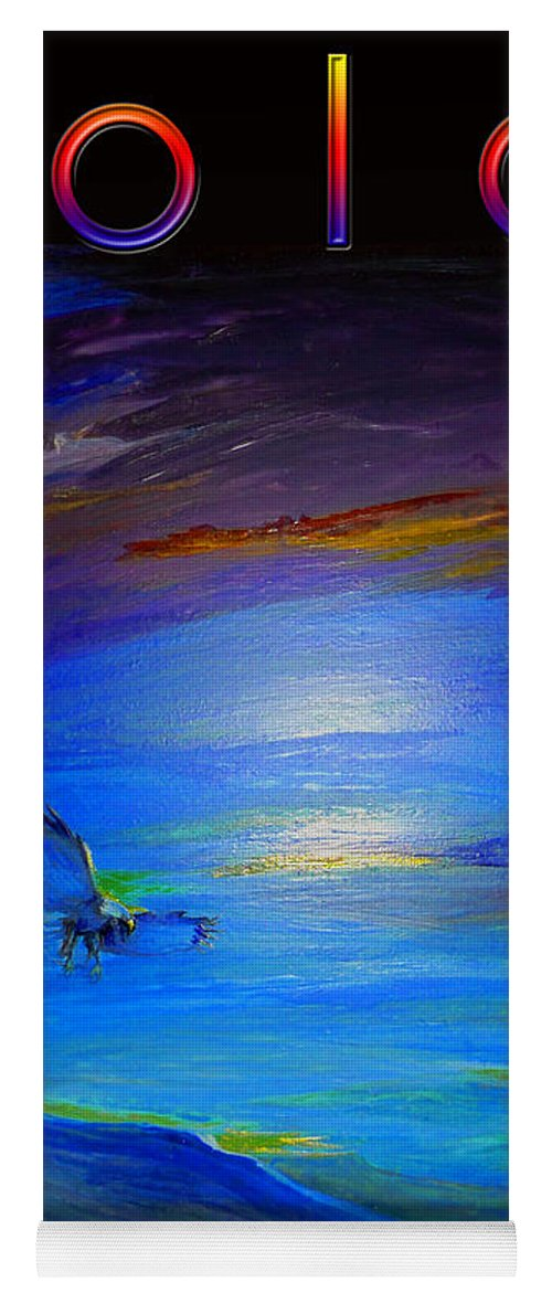 Mountains Yoga Mat featuring the painting Color Futuristic by Jean Habeck