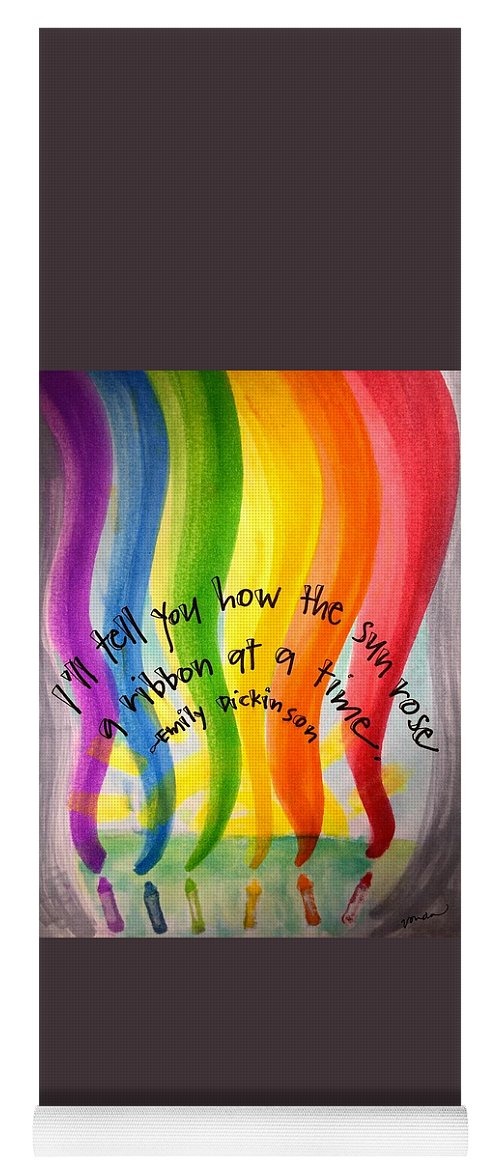 Rainbow Yoga Mat featuring the painting Color the Sky by Vonda Drees