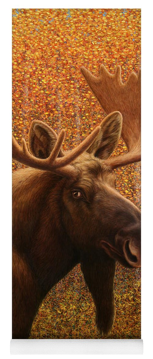 Moose Yoga Mat featuring the painting Colorado Moose by James W Johnson