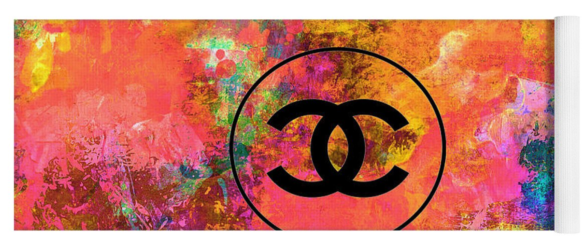 top brands customers first super cheap Colorful Chanel Logo Print Yoga Mat