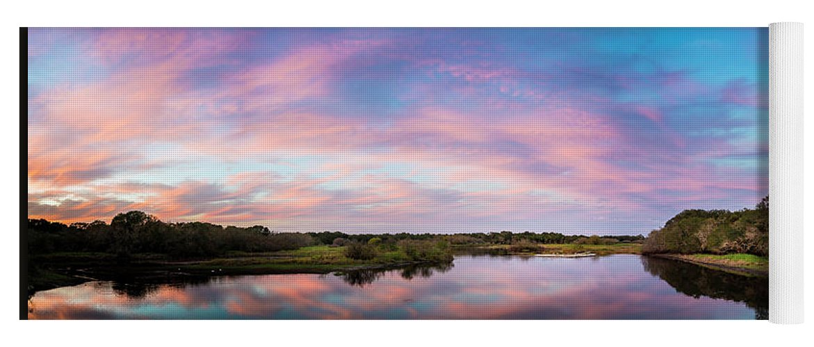 Florida Yoga Mat featuring the photograph Colorful Sky by Marvin Spates