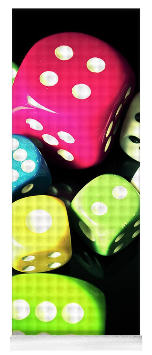 Casino Yoga Mat featuring the photograph Colourful Casino Dice by Jorgo Photography - Wall Art Gallery
