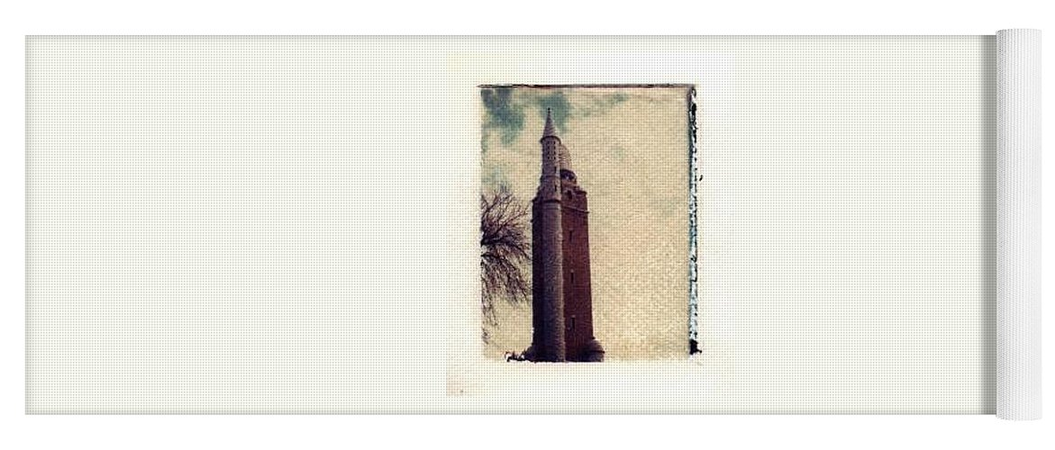 Polaroid Transfer Yoga Mat featuring the photograph Compton Water Tower by Jane Linders