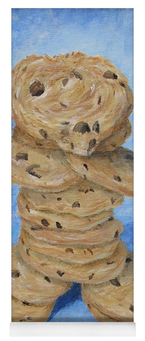 Cookies Yoga Mat featuring the painting Cookie Monster by Nancy Nale