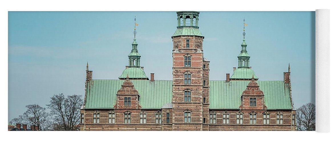 Denmark Yoga Mat featuring the photograph Copenhagen Rosenborg Castle Back Facade by Antony McAulay