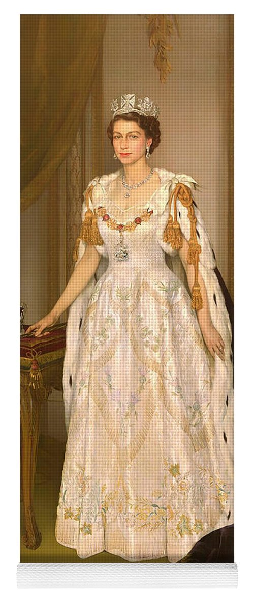 coronation portrait of queen elizabeth ii of the united kingdom yoga mat for sale by mountain dreams coronation portrait of queen elizabeth ii of the united kingdom yoga mat