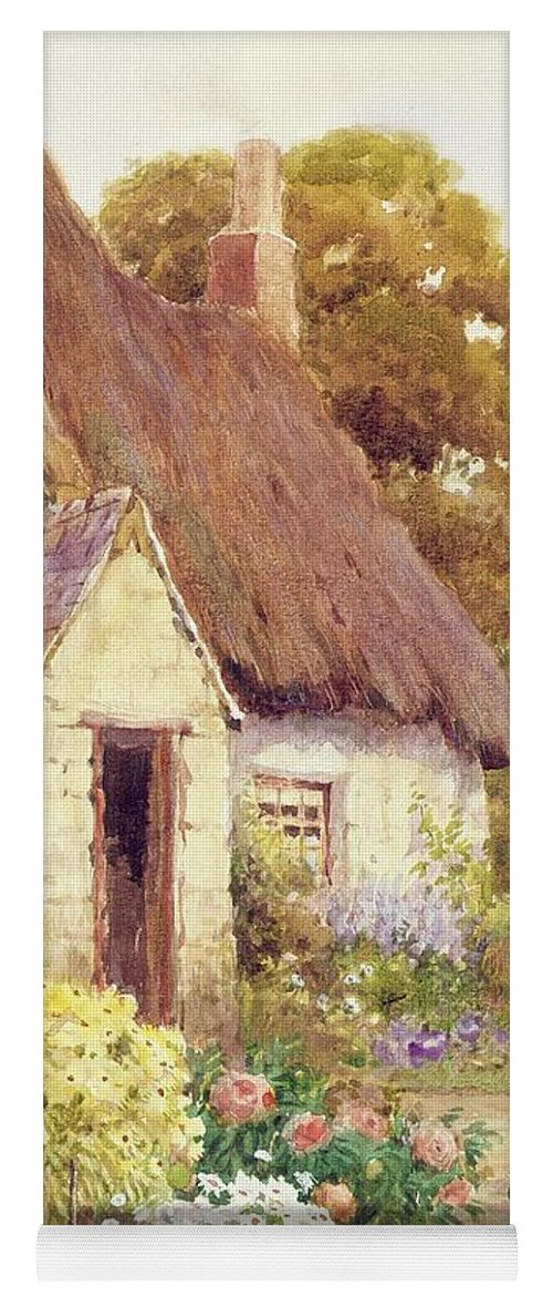 Country Yoga Mat featuring the painting Country Cottage by Joshua Fisher