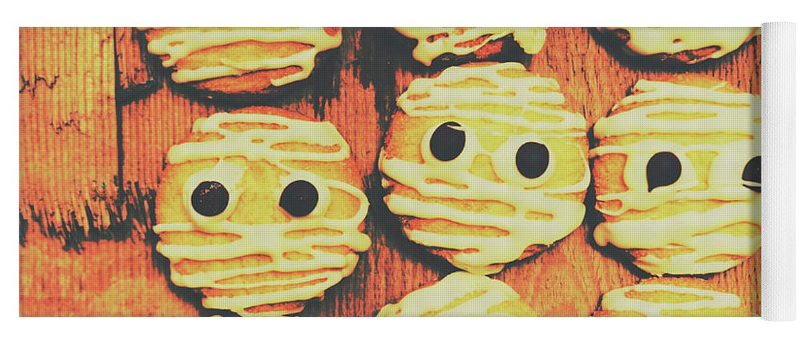 Sweet Yoga Mat featuring the photograph Creepy And Kooky Mummified Cookies by Jorgo Photography - Wall Art Gallery