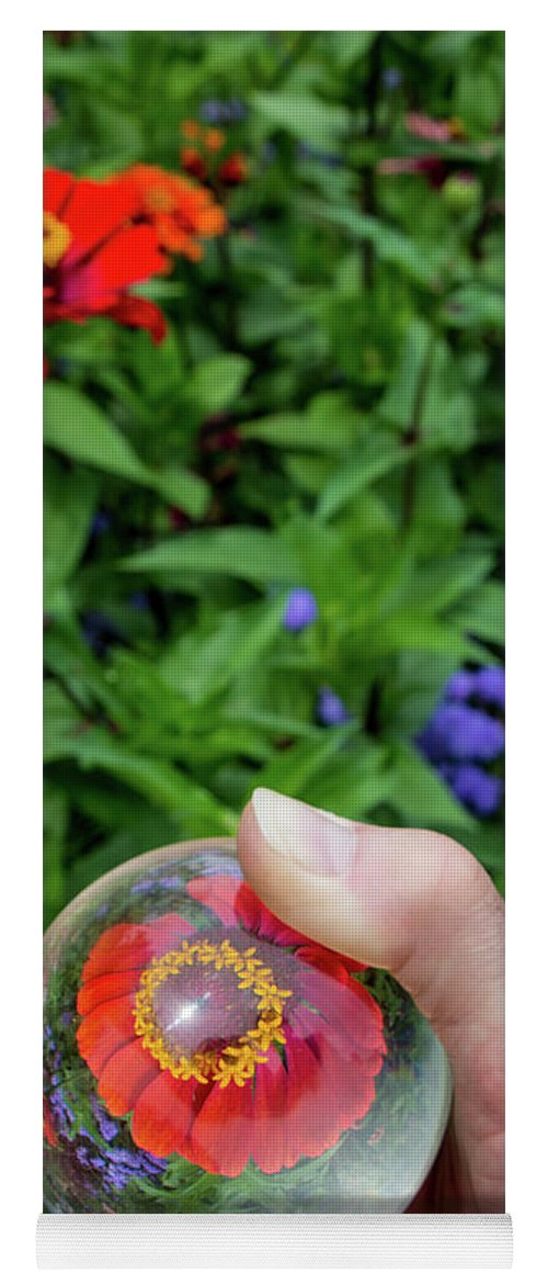Plant Yoga Mat featuring the photograph Crystal Garden by Deborah Klubertanz