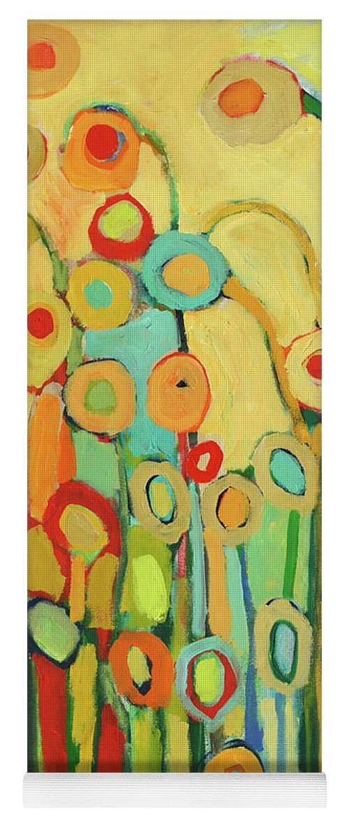 Floral Yoga Mat featuring the painting Dance Of The Flower Pods by Jennifer Lommers