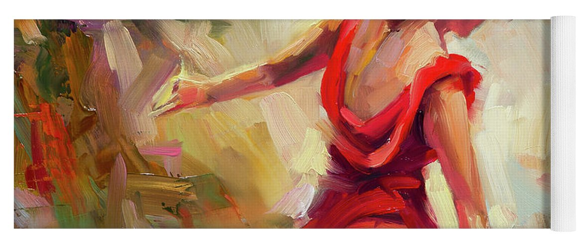 Dancer Yoga Mat featuring the painting Dancer by Steve Henderson