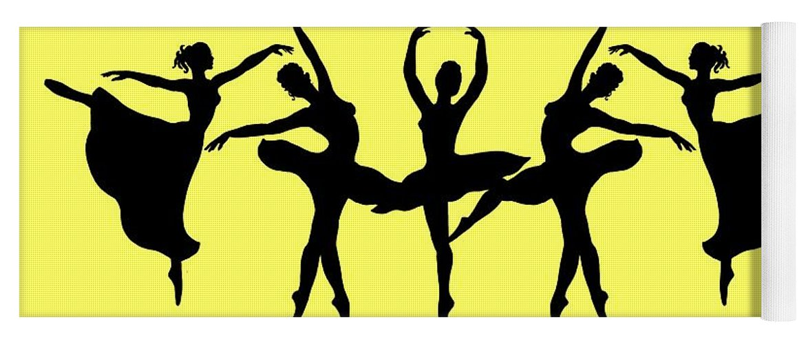 f14e3f6b1db62 Dancing Ballerinas Silhouette Yoga Mat for Sale by Irina Sztukowski