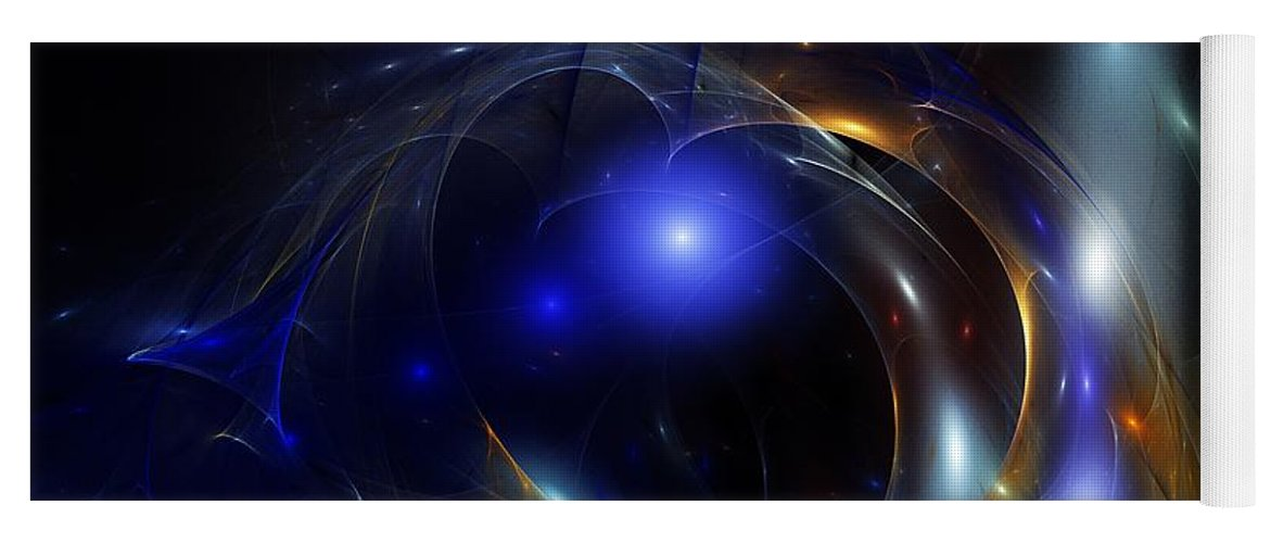 Dark Mater Revealed Yoga Mat featuring the digital art Dark Matter Revealed by David Lane