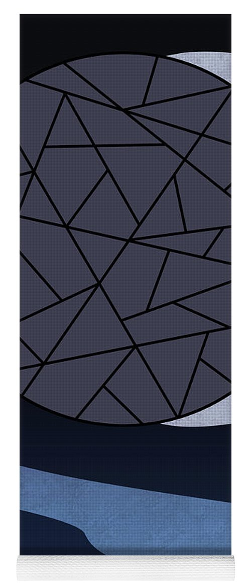 Abstract Yoga Mat featuring the digital art Dark Moon by Absentis Designs