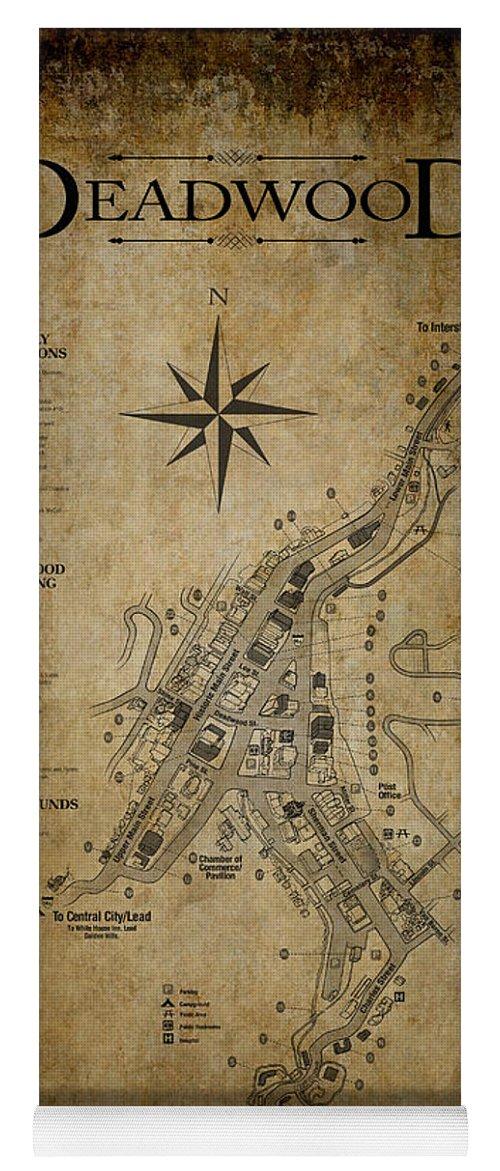 Deadwood South Dakota Map Yoga Mat for Sale by Daniel Hagerman on
