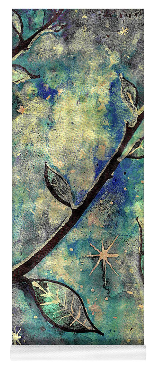 Leaves Yoga Mat featuring the mixed media December Dream Walk by Callan Art