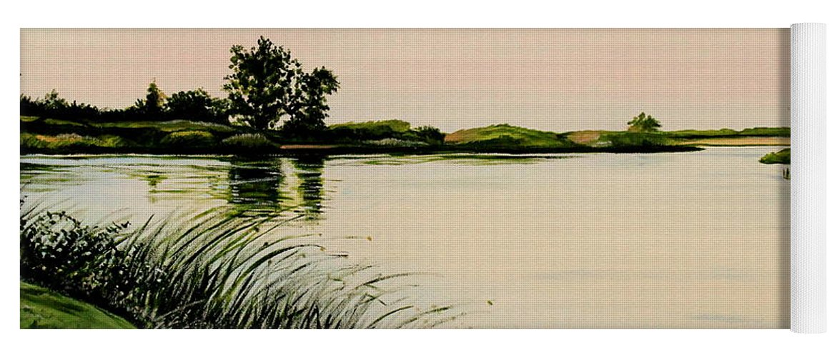 Landscape Yoga Mat featuring the painting Delta At Dusk by Elizabeth Robinette Tyndall