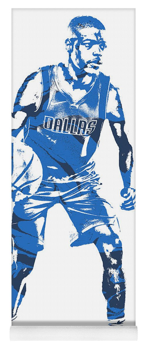 b31a974cd1b Dennis Smith Jr Yoga Mat featuring the mixed media Dennis Smith Jr Dallas  Mavericks Pixel Art