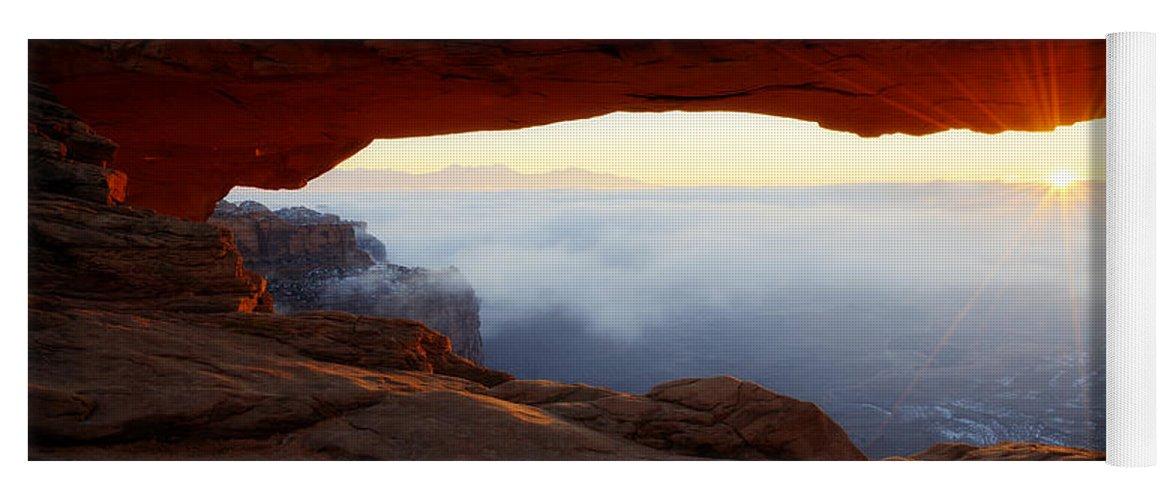 Desert Fog Yoga Mat featuring the photograph Desert Fog by Chad Dutson