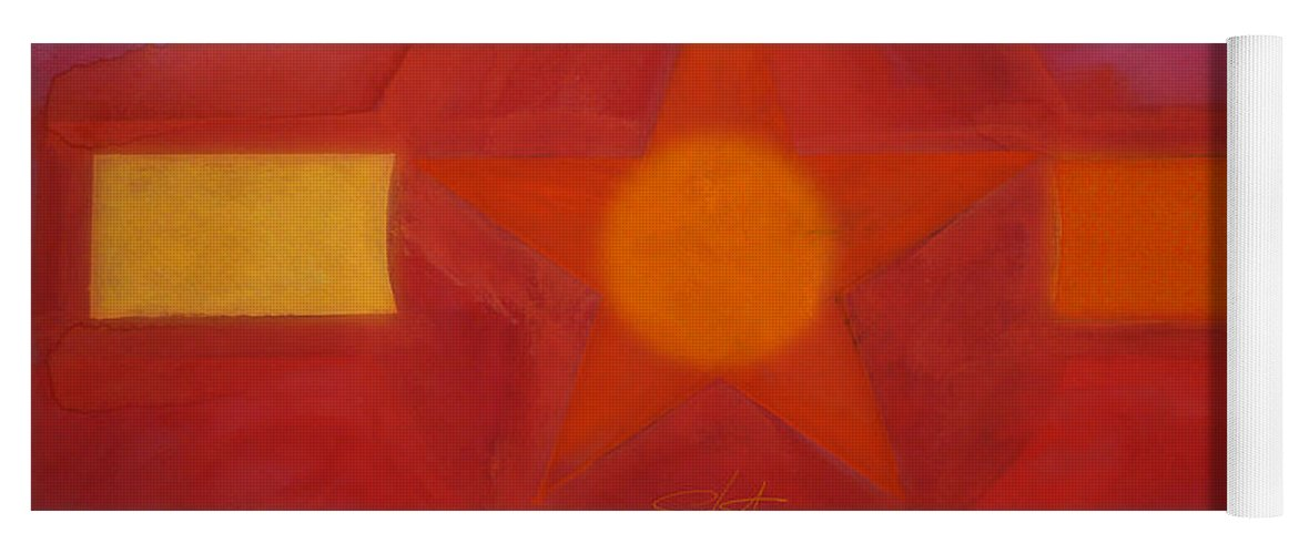 Usaaf Insignia Yoga Mat featuring the painting Desert Red by Charles Stuart
