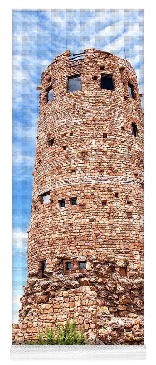 Desert View Tower Yoga Mat featuring the photograph Desert View Tower, Grand Canyon by A Gurmankin