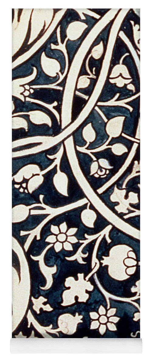 William Morris Yoga Mat featuring the drawing Detail Design For Avon Chintz by William Morris