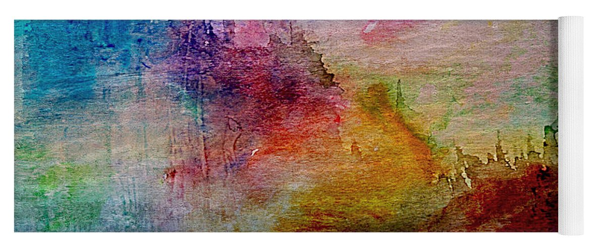 Abstract Yoga Mat featuring the painting 1a Abstract Expressionism Digital Painting by Ricardos Creations