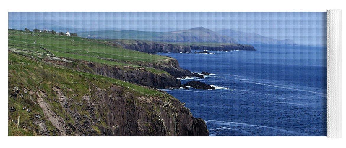 Irish Yoga Mat featuring the photograph Dingle Coast Near Fahan Ireland by Teresa Mucha