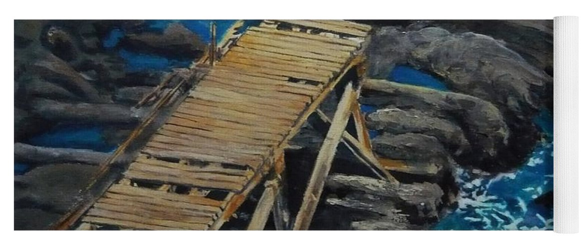 Dock Yoga Mat featuring the painting Dock by Travis Day