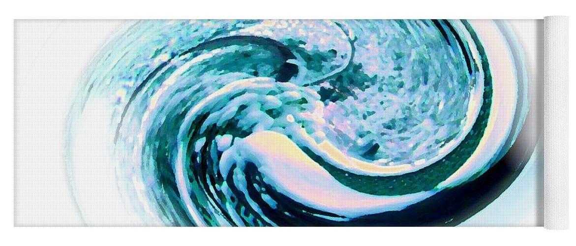 Swirl Yoga Mat featuring the digital art Down The Drain by Carol Grimes