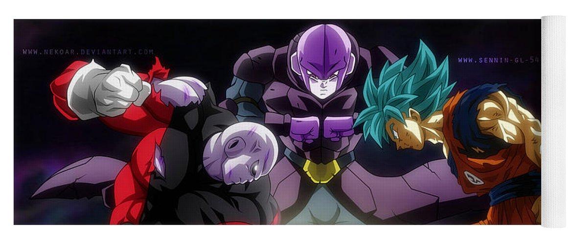 Dragon Ball Super Goku Hit Jiren Yoga Mat