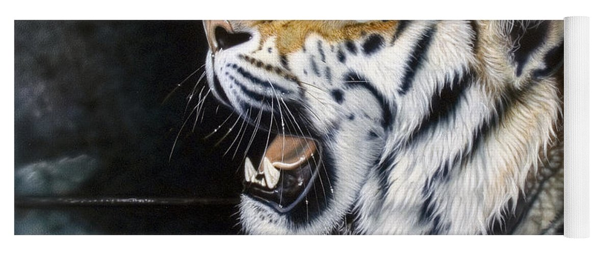 Tiger Yoga Mat featuring the painting Dragonfly by Sandi Baker