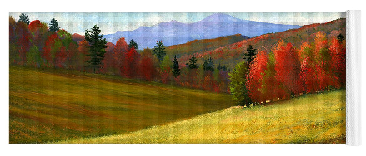 Landscape Yoga Mat featuring the painting Early October by Frank Wilson