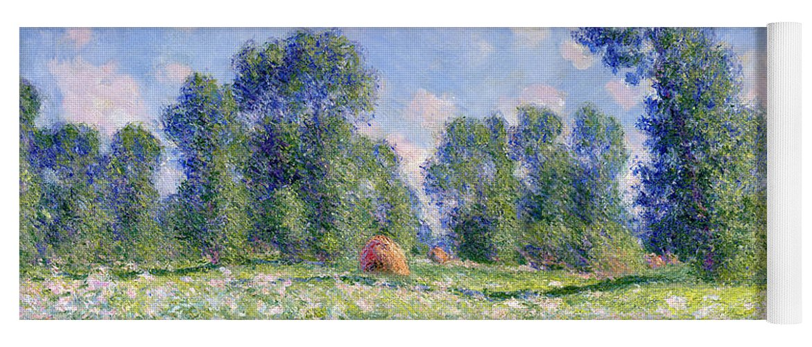Effect Of Spring Yoga Mat featuring the painting Effect Of Spring At Giverny by Claude Monet
