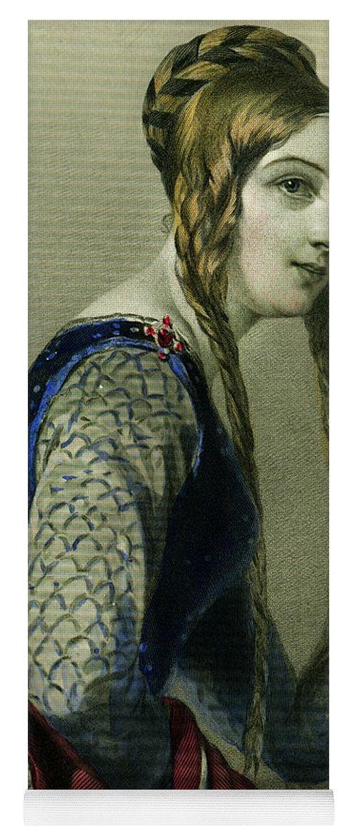 Eleanor Of Aquitaine Yoga Mat featuring the painting Eleanor of Aquitaine, Queen of Henry II by English School