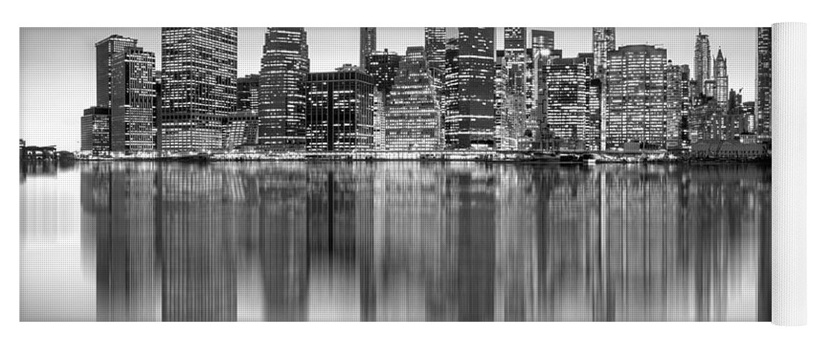 One World Trade Center Yoga Mat featuring the photograph Enchanted City by Az Jackson