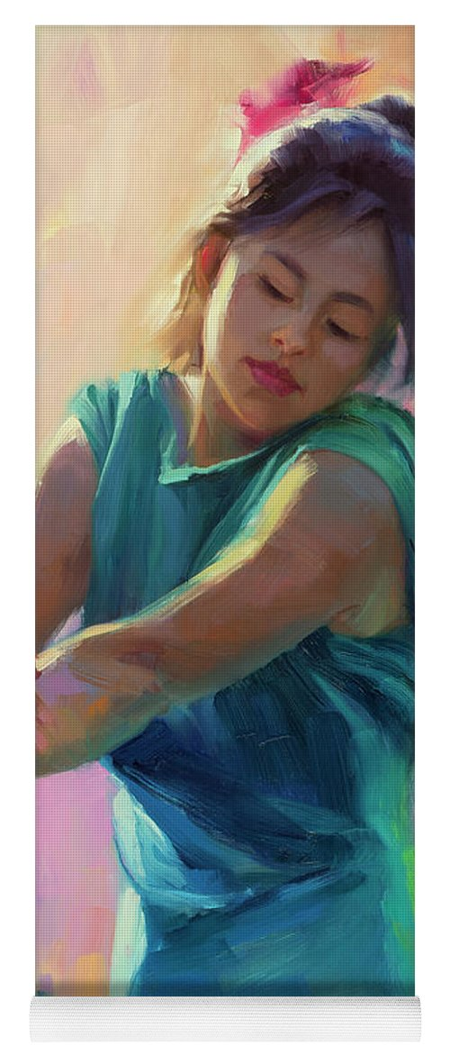 Spring Yoga Mat featuring the painting Enchanted by Steve Henderson