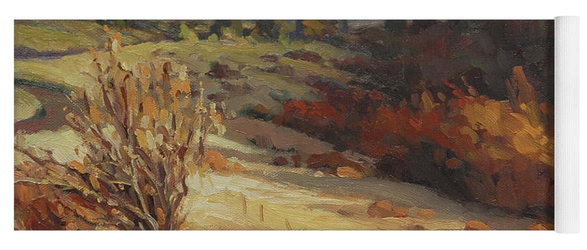 Country Yoga Mat featuring the painting Evening Shadows by Steve Henderson