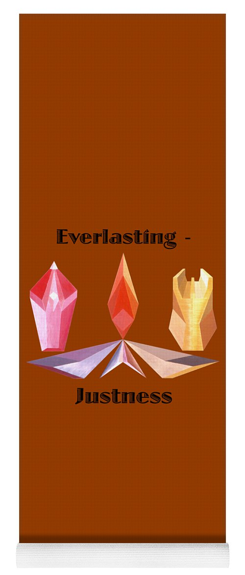 Painting Yoga Mat featuring the painting Everlasting-Justness text by Michael Bellon