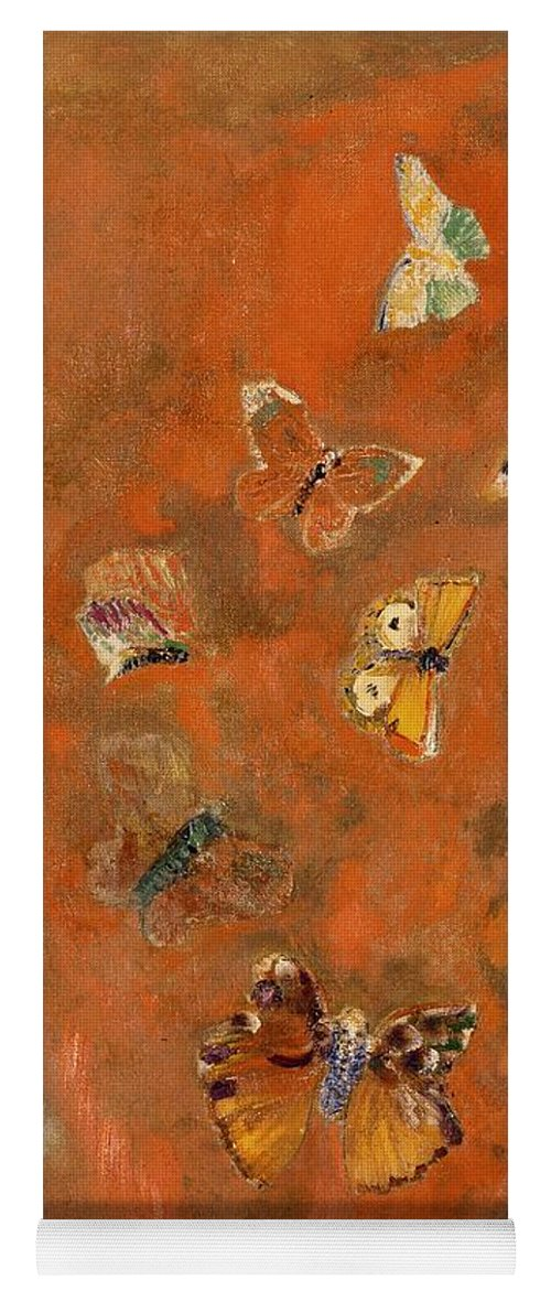 Evocation Of Butterflies Yoga Mat for Sale by Odilon Redon