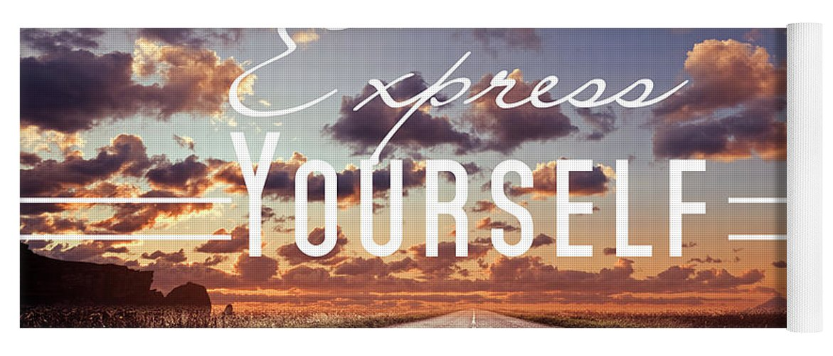 Express Yourself Yoga Mat featuring the photograph Express Yourself by Mark Ashkenazi