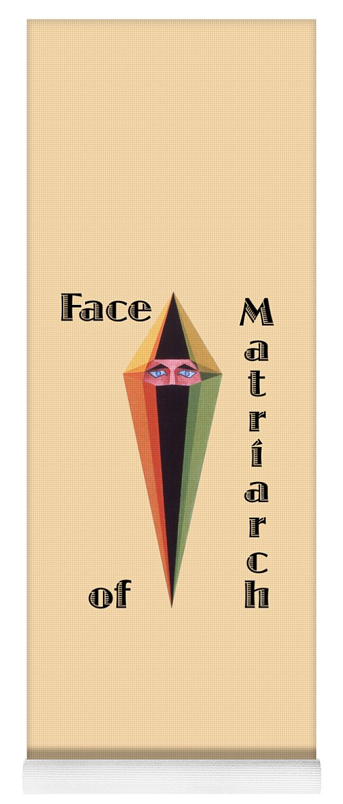 Painting Yoga Mat featuring the painting Face of Matriarch text by Michael Bellon