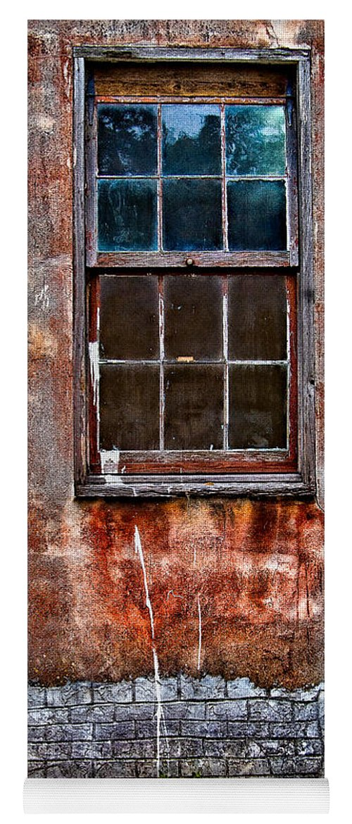 Window Yoga Mat featuring the photograph Faded Over TIme by Christopher Holmes